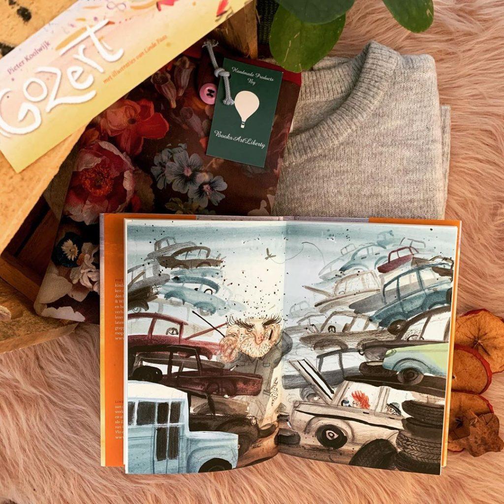 Illustraties van Linde Faas in Lemniscaat kinderboek Gozert van Pieter Koolwijk